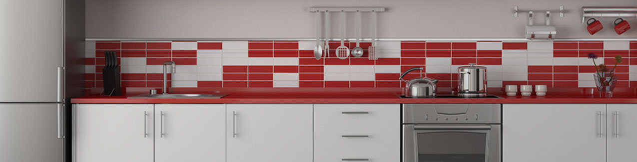 Red and White Kitchen