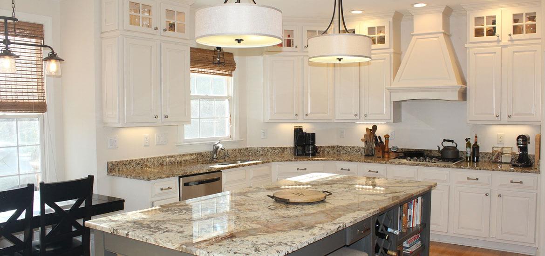 White Marble Counter Kitchen